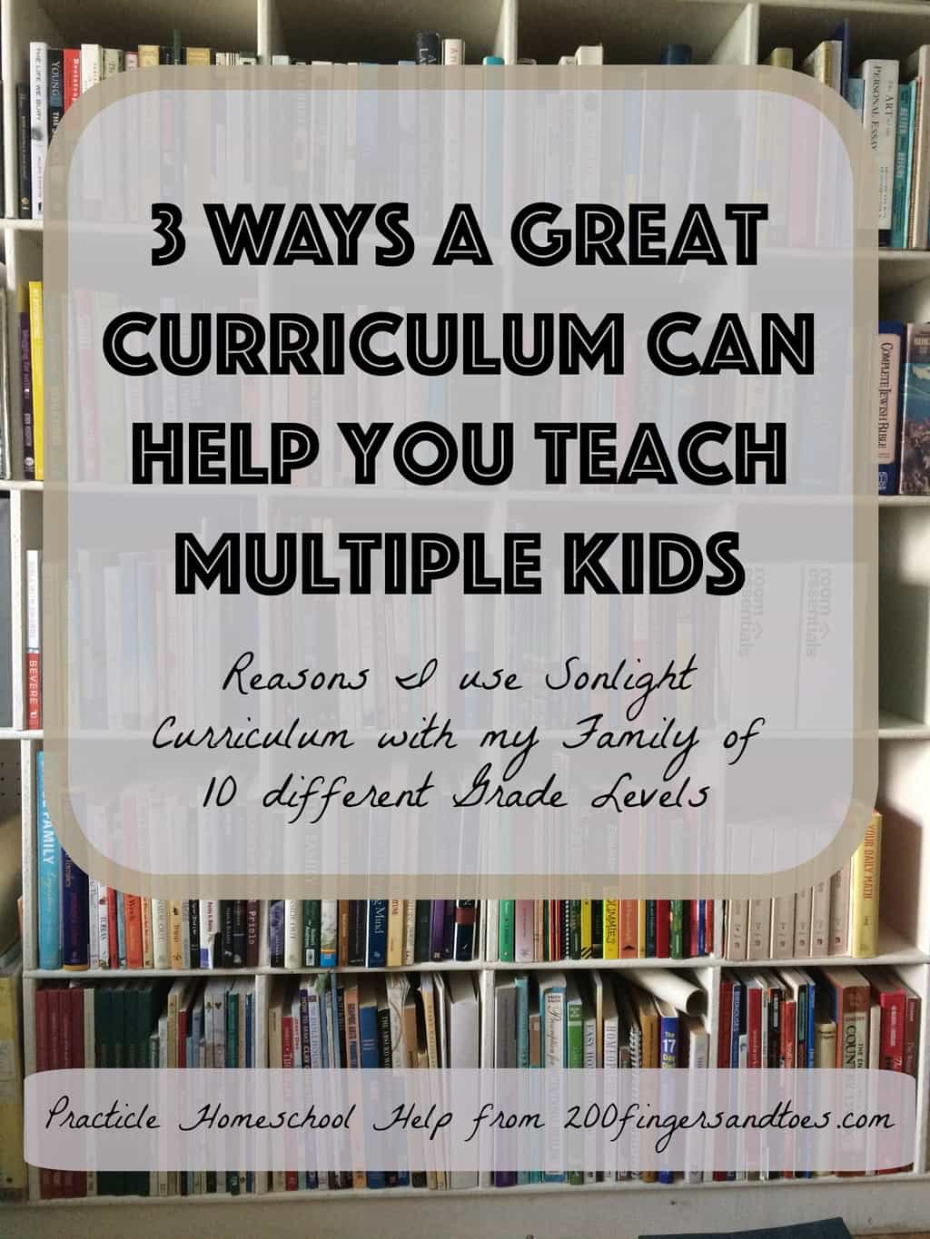 3 Ways a Great Curriculum Helps You Teach Multiple Kids